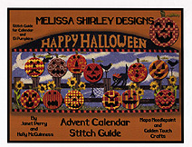 melissa shirley haloween countdown calendar needlepoint stitch guide by janet perry